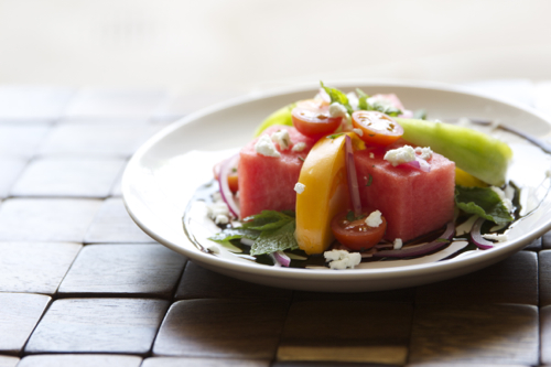 Watermelon Tomato Salad 6